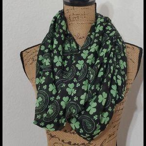 ST. PATRICK'S DAY•shamrock themed scarf•bundle it